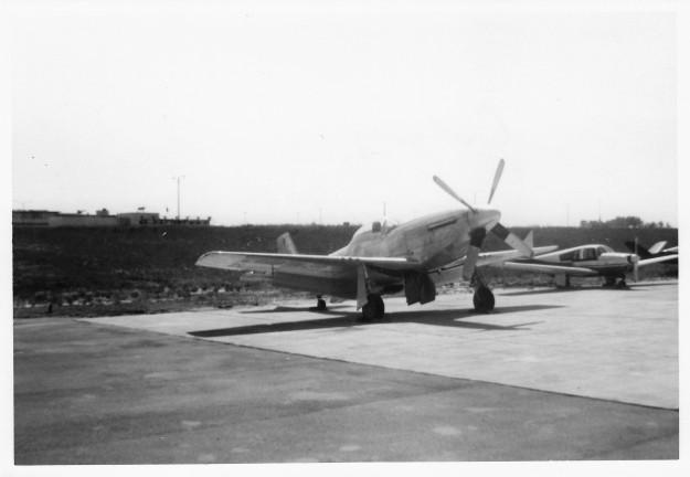 Civilian P-51D Mustang CF-LOQ -2 at Calgary July 1962 via F.W.Wunsch