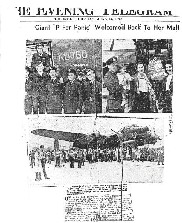 Evening Telegram article