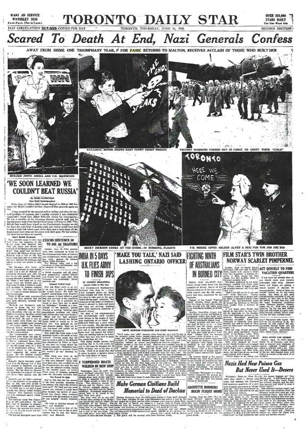 Toronto Daily Star June 14, 1945